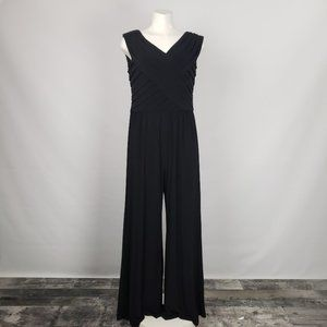 Adrianna Papell Black Jumpsuit Size 14